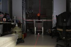 Laser adjustment of beamline in MePS